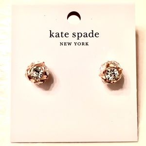 Kate Spade Rose Gold & Clear Studs